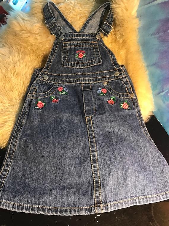 a3b8f81e5131 Vintage Oshkosh vestBack 4T blue jean jumper