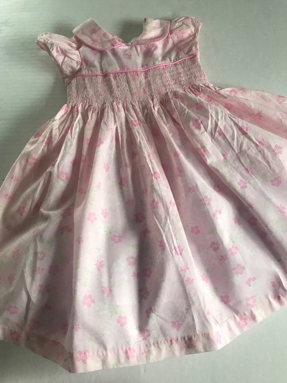 Laura Ashley deadstock smocked floral 2T prairie d