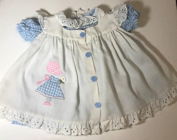 Vintage Apron Infant Dress,infant dress,baby dress