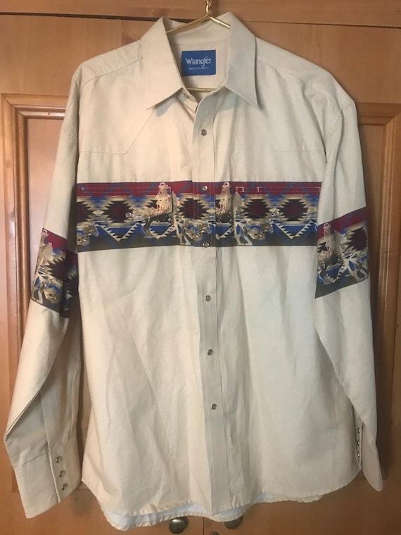 Wrangler western snap shirt,Wrangler, vintage wran