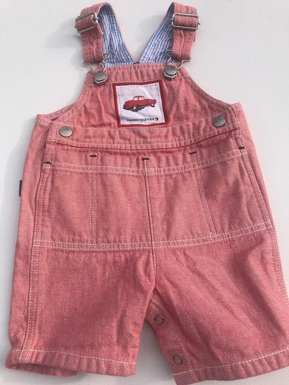 Vintage Tommy Hilfiger baby Infant Shortalls,Shor… - image 1