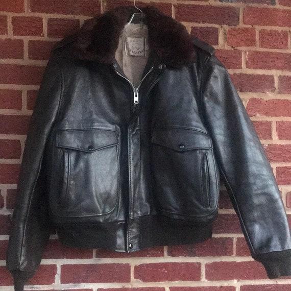 Bomber Aviator Leather Coat Jacket Winter,vintage,