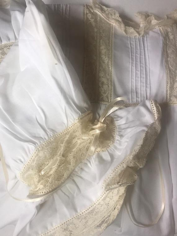 Vintage Custom Victorian Style Dress & Bonnet,Han… - image 6