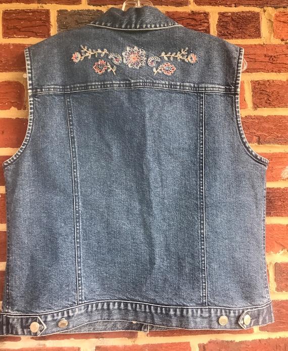 Pendleton Embellished Denim Jean Vest, denim vest… - image 2