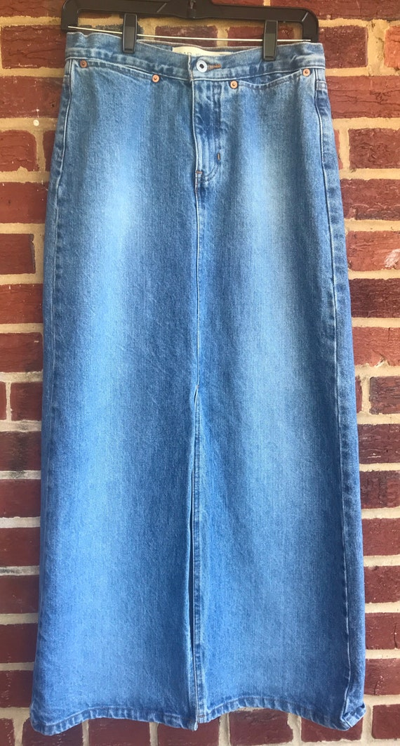 Gap Maxi Denim front split skirt,Mexico,Vintage de