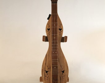 Smaller Size Spalted Maple and Walnut Mountain Dulcimer