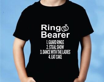 Ring Bearer Shirt  Wedding Party Ring Bearer Gift
