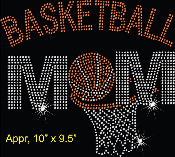 Iron On Rhinestone Transfer Bling Sports Mom So There/'s this girl Basketball