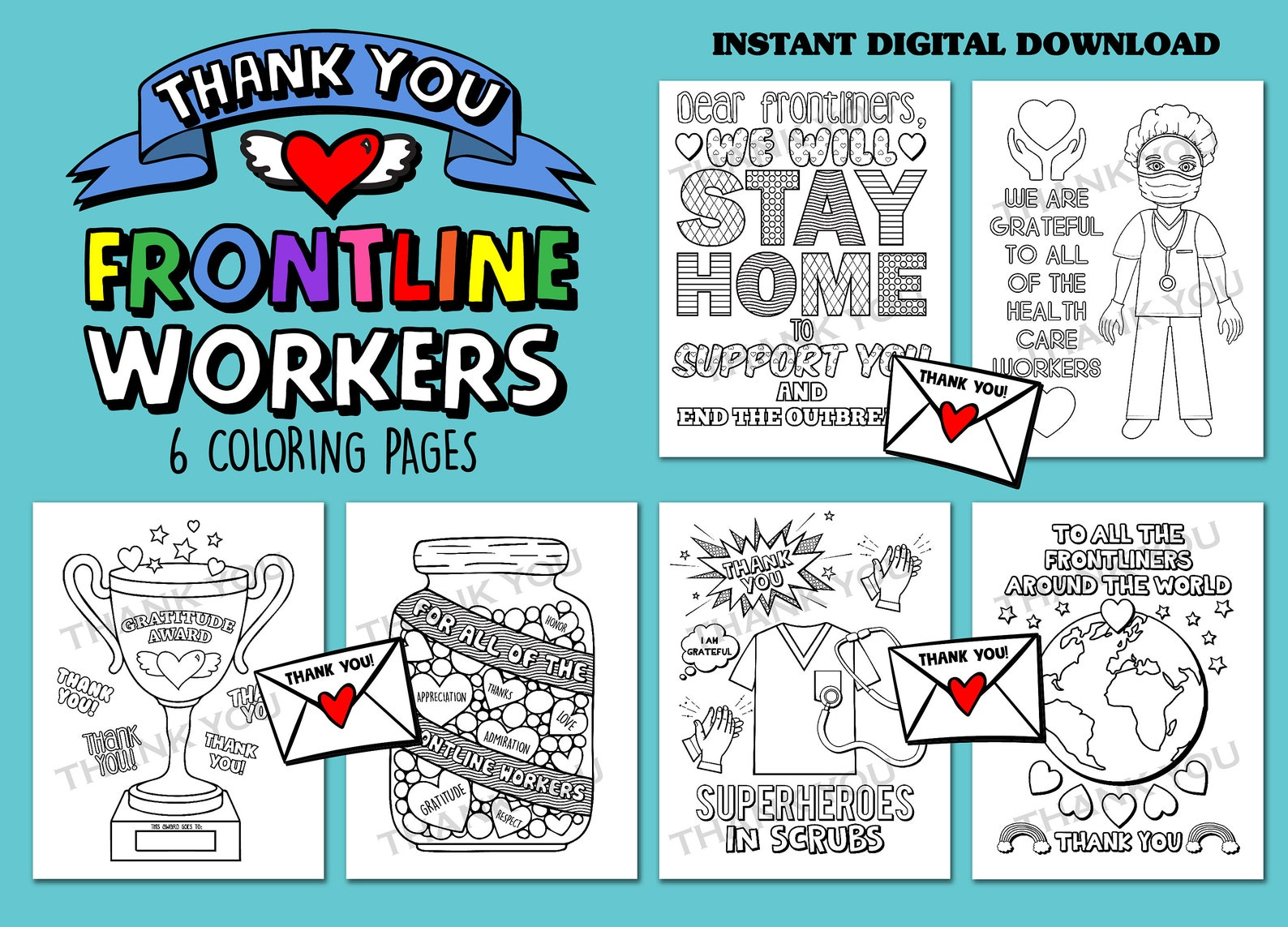 Nurse Doctor Coloring Books Honoring The Front Line Heroes