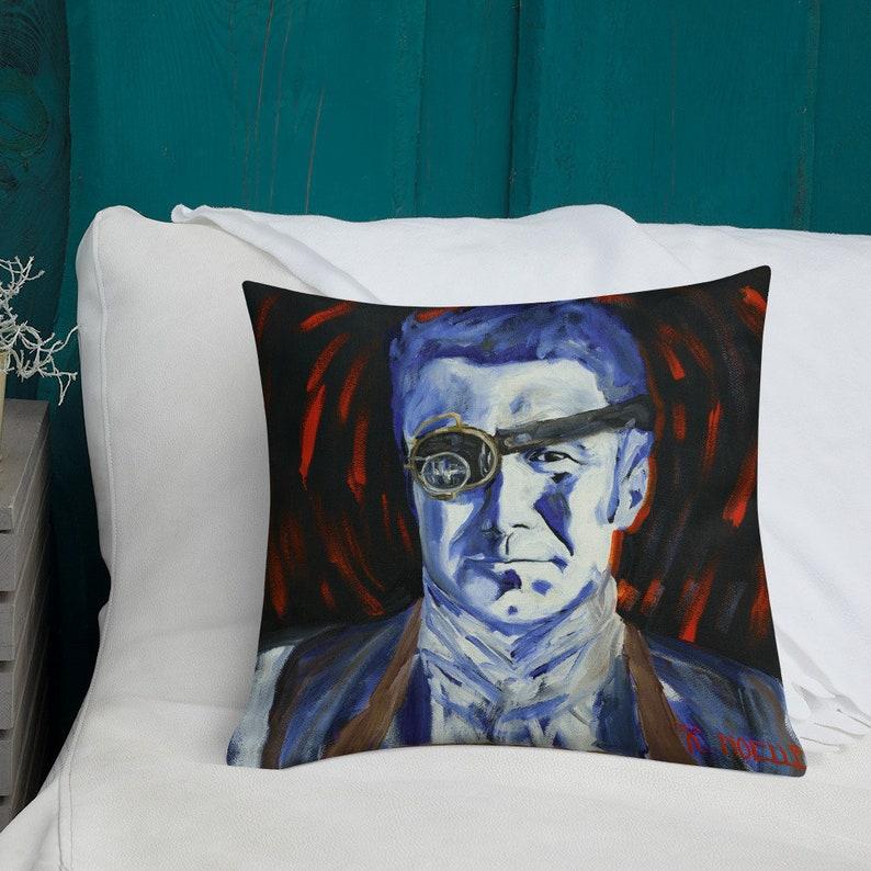 Premium Steampunk Pillow by R Noelle