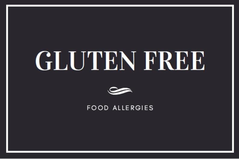 Black and White Elegant Food Allergy Labels image 0
