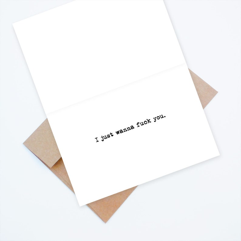 naughty Valentine/'s Day card Dre card In the wise words of Dr funny love card Dr Dre...I just wanna f*** you naughty love card