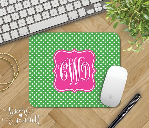 Round Mouse pad Stylish Durable Office Accessory and Gift T-Black and White Zebra Print and Damask Pattern-Monogrammed Initials