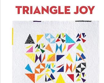 Triangle Joy Modern Quilt PDF Pattern