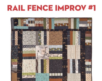 Rail Fence Improv #1: PDF Pattern