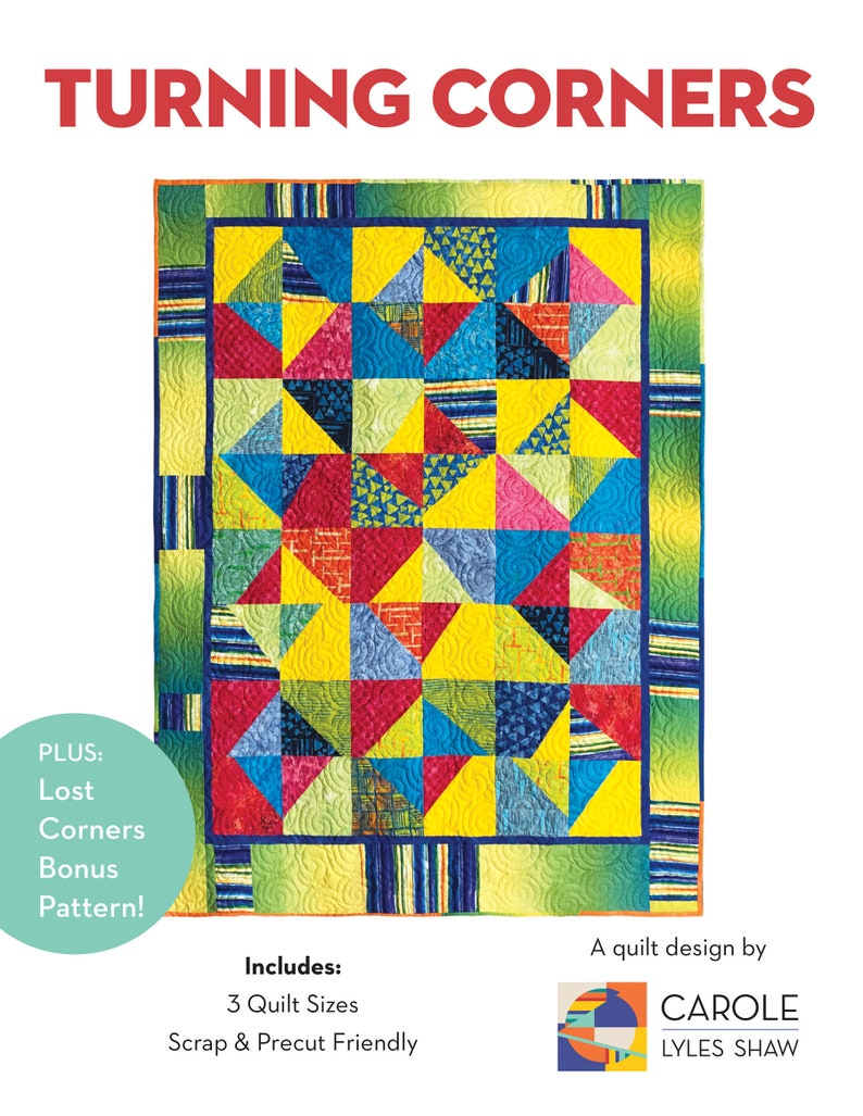 Turning Corners: A Modern Quilt PDF Pattern image 0