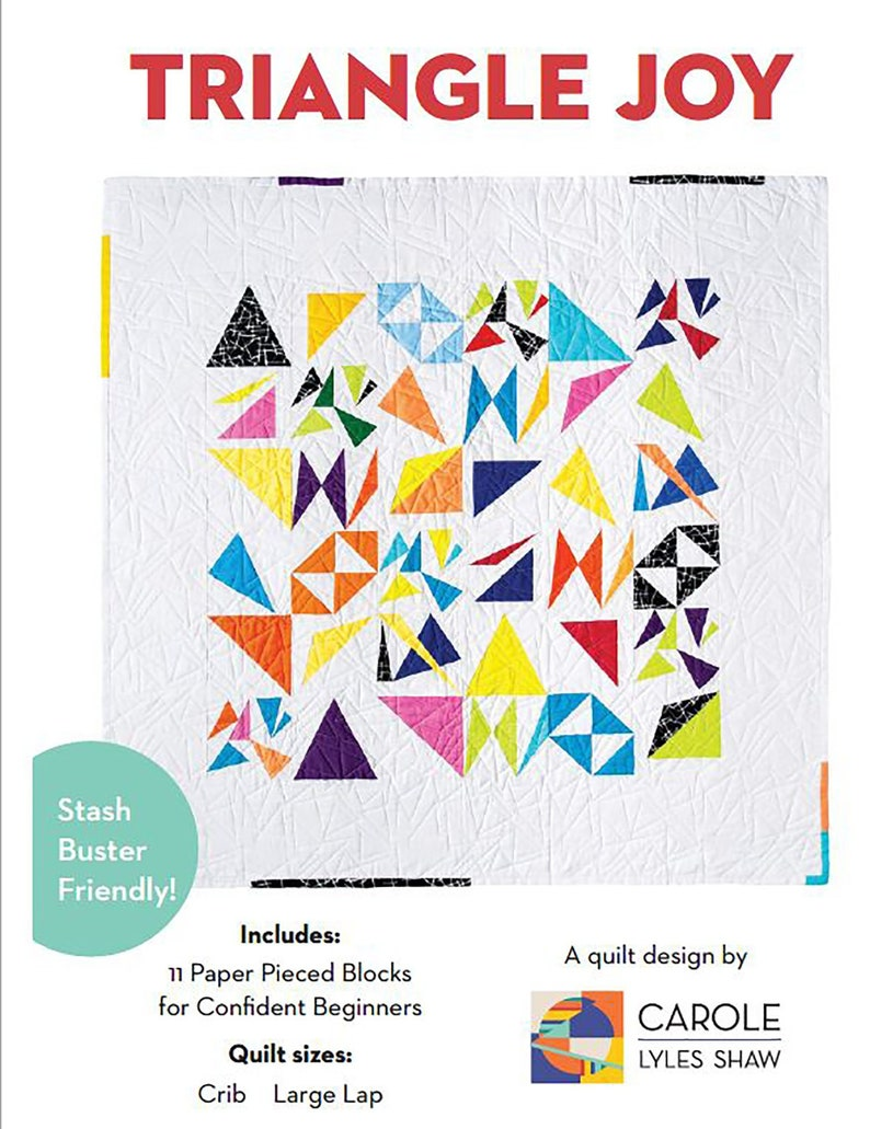 Triangle Joy Modern Quilt PDF Pattern image 0