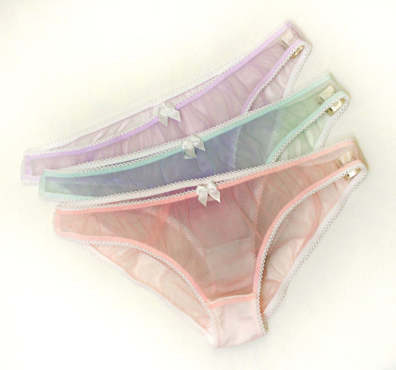 e2fc79e69ed5 Sheer knickers sheer panties pink panties blue knickers | Etsy