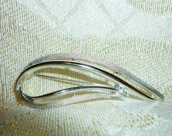 Vintage Sarah Coventry Brooch Silver Tone Design May Be Worn Multi-Angles Unique Vintage Brooch