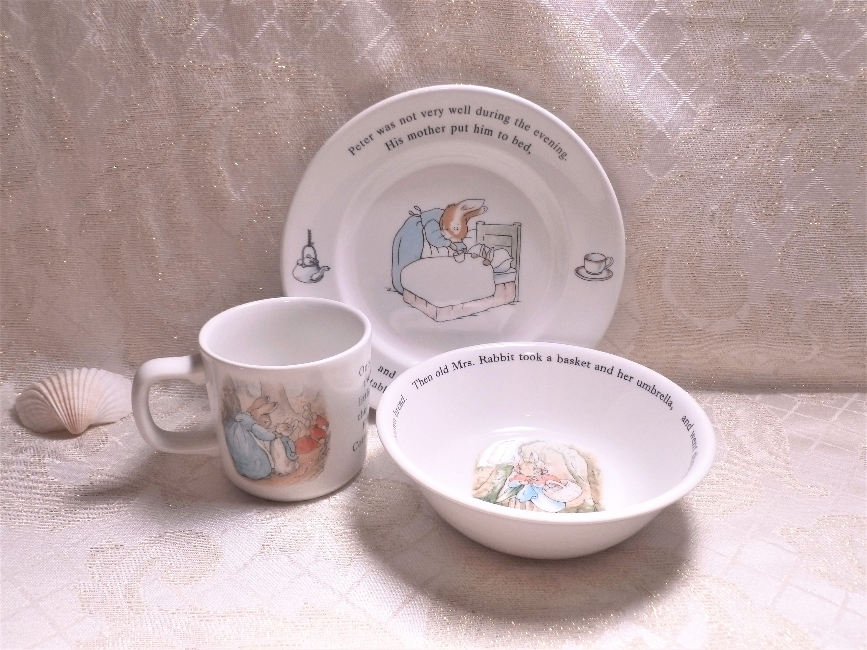 by Wedgwood Beatrix Potter Peter Rabbit Boys 5 Piece Gift Set