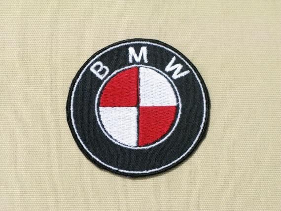 Bmw Logo Emblem Ensignia Custom Colors Red White On Black Etsy