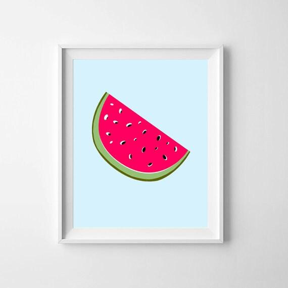 Nursery Prints, Nursery Wall Prints, Nursery Wall Art, Watermelon, Nursery Decor, Nursery Printable, Baby Wall Art, Nursery illustration