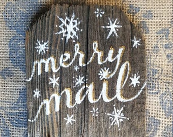 Merry Mail card holder