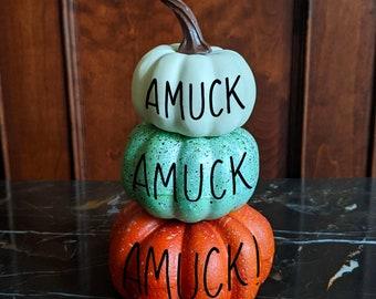 Personalized craft pumpkin - multi stack