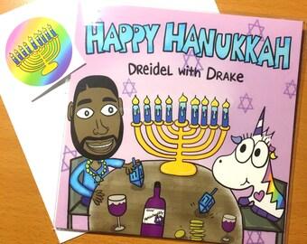 Happy Hanukkah greeting card, Holiday 2017