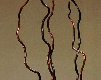 Green Floral Crafts   Corkscrew Kuwa Willow Branches   3-4 FT Tall   Walnut Brown