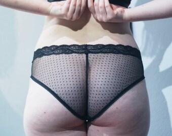 Ella Knicker/Panty - Jersey Dot Knickers/Panty - handmade lingerie - XXS-4XL - NEW