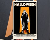 "Halloween 11""x17"" Movie Poster Art Print Shockarama Horror Film Screening 1978 John Carpenter Michael Myers Slasher"