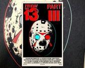 "Friday the 13th Part 3 3D 11""x17"" Movie Poster Art Print Shockarama Horror Film Screening Jason Voorhees Slasher Camp Crystal Lake"