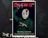 "Friday the 13th Final Chapter 11""x17"" Movie Poster Art Print Shockarama Horror Film Jason Voorhees Slasher Camp Crystal Lake Part 4"