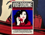 "Videodrome 11""x17"" Movie Poster Art Print Shockarama Body Horror Film Screening David Cronenberg Debbie Harry"
