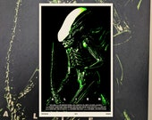 "Alien 11""x17"" Movie Poster Art Print Shockarama Horror Film Screening Xenomorph Sci-Fi Aliens Nostromo Ripley Space Marines"