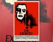 "The Exorcist 11""x17"" Movie Poster Art Print Shockarama Horror Film Screening Linda Blair Pazuzu Demon"