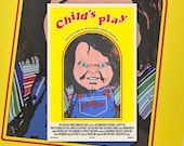 "Child's Play 11""x17"" Movie Poster Art Print Shockarama Horror Film Screening Chucky Killer Doll Slasher Don Mancini"