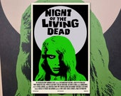 "Night of the Living Dead 11""x17"" Movie Poster Art Print Shockarama Horror Film Screening George A Romero Dawn Day Zombie"