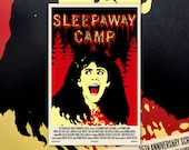 "Sleepaway Camp 11""x17"" Movie Poster Art Print Shockarama Horror Film Screening Slasher Angela Baker Camp"