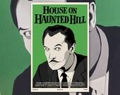 "House on Haunted Hill 11""x17"" Movie Poster Art Print Shockarama Horror Film Vincent Price Frederick Loren William Castle Classic Ghost"