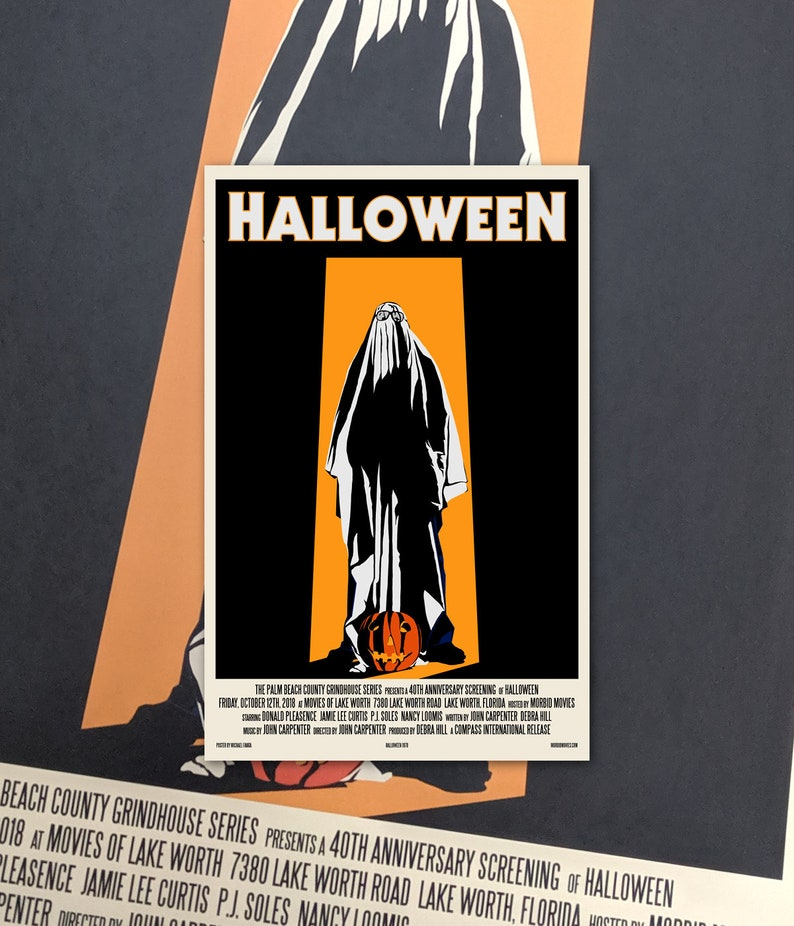 Halloween 1978 Movie Poster.Halloween 11 X17 Movie Poster Art Print Shockarama Horror Film Screening 1978 John Carpenter Michael Myers Slasher