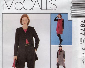 FREE US SHIP McCall's 7877  1995 Woman's Day Collection 3 Hour Separates Size 12 14 16 Bust 34 36 38 Jacket Vest Pants Skirt Uncut