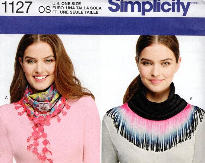 FREE US SHIP Simplicity 1127 Carla Reiss Eternity Neck Scarf  Fleece Factory Folded Sewing Pattern New