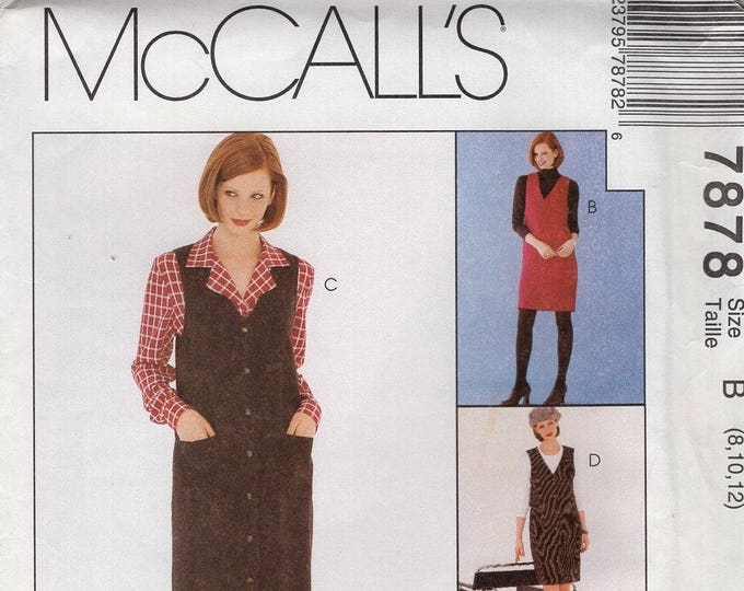 FREE US SHIP McCall's 7878  1995 Woman's Day Collection Jumper Blouse 2 Hour Separates Size8 10 12 Bust 31 32 34 Uncut