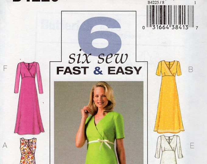 ddec20491c5aeb Free Us Ship Sewing Pattern Butterick 4225 6 Fast Easy Dress Empire Maxi  Size 8 10