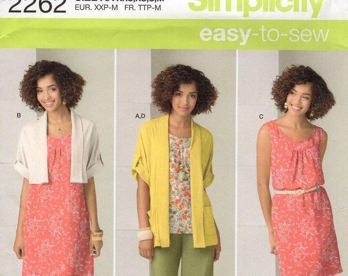 Simplicity 2262 Free Us Ship Sewing Pattern In K Designs Wardrobe Dress Jacket Top Pants Missy Size 4/16 Bust 29 30 31 32 34 36 38 New