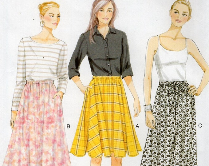 Vogue 8818 Free Us ShipSewing Pattern Skirt Elastic Waist Drawstring  Size 4 6 8 10 12 14 Waist 22-28 New Uncut Maxi