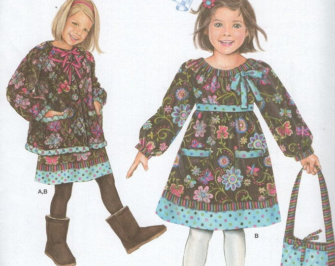 FREE US SHIP Sewing Pattern Simplicity 2348 Uncut New Girls Daisy Kingdom Dress Jacket Matching Purse Size 2 3 4 5, 6 7 8 Uncut New