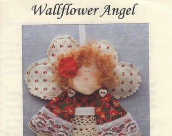 Craft Sewing Pattern Free Us Ship  Hannily Patterns Wallflower Angel Scrap Doll Uncut 1993 hp106 Christmas Door Knob Hang Peg